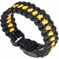 Paracord náramok Flash Black/Yellow