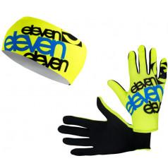 Eleven set bežecké rukavice F11 + čelenka Dolomiti F11 Blue