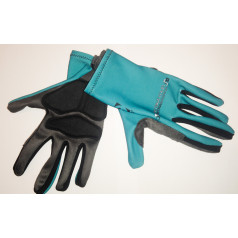 Cyklistické rukavice ELEVEN Detská tour Petra Sagana Green dlhé