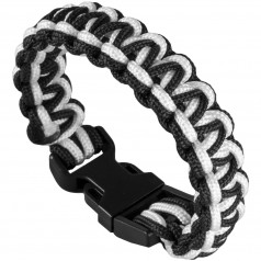 Paracord náramok Cobra White/Black