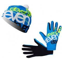 Eleven set bežecké rukavice Fluo F2925 + čiapka Sven Fluo F2925