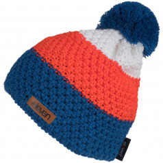 Pletená čiapka Eleven POM Orange/Blue