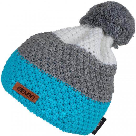 Pletená čiapka Eleven POM Blue/Grey