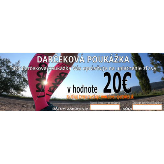 Darčkeková poukážka v hodnote 20€
