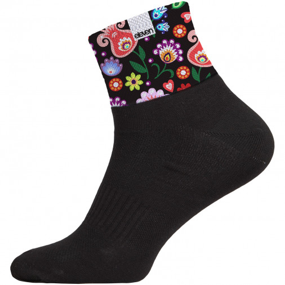 Ponožky HUBA Folklor čierne