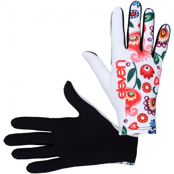 Bežecké rukavice Folklór biele