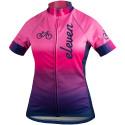 Eleven cyklistický dres Bike Pink Navy