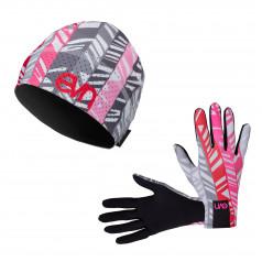 Eleven set bežecké rukavice Pass 7 + čiapka