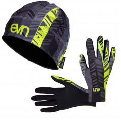 Eleven set bežecké rukavice Pass F11 + čiapka