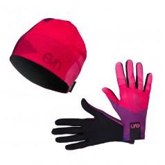 Eleven set bežecké rukavice Top 2 + čiapka