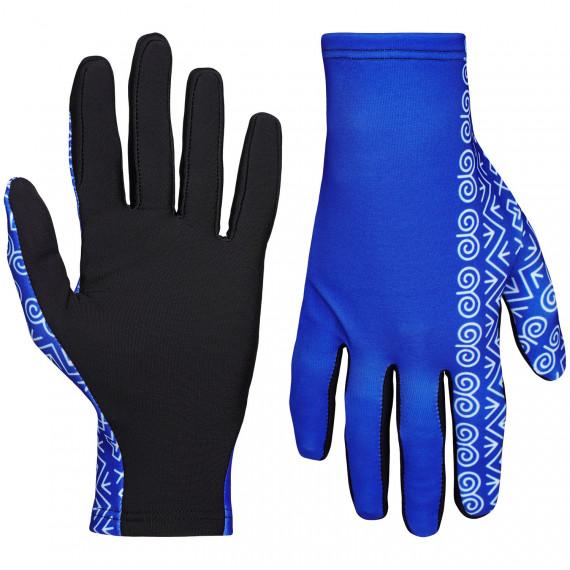 Bežecké rukavice Slovensko čičmanský vzor modré