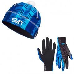 Bežecké rukavice + čiapka Sven Pass Blue