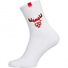 Ponožky CUBA Vianočný sob biele