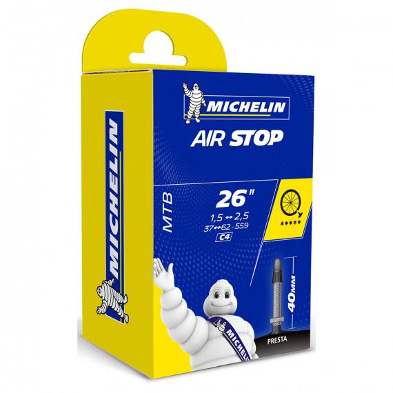 """Duša Michelin Air Stop 26"""" 1,5-2,5 Galuskový ventil"""