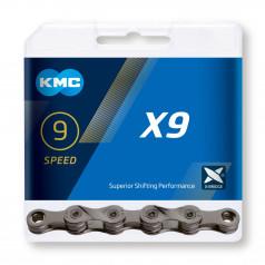 Reťaz KMC X9 Gray, 9 Speed