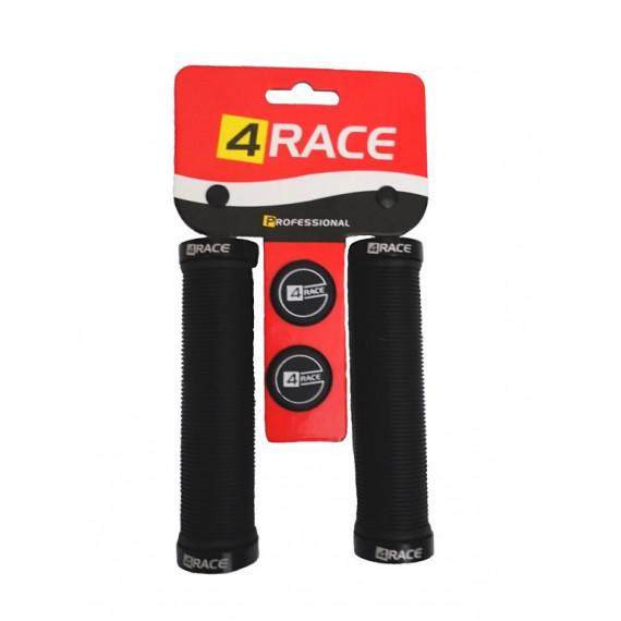 Gripy 4RACE 2x Lock 130mm čierne