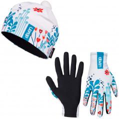 Bežecké rukavice + čiapka Meadow White