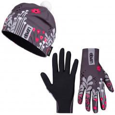 Bežecké rukavice + čiapka Meadow Grey