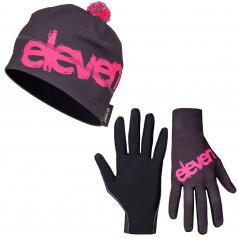 Bežecké rukavice + Čiapka Limit Pink